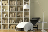 Reading corner interior — Stock Photo