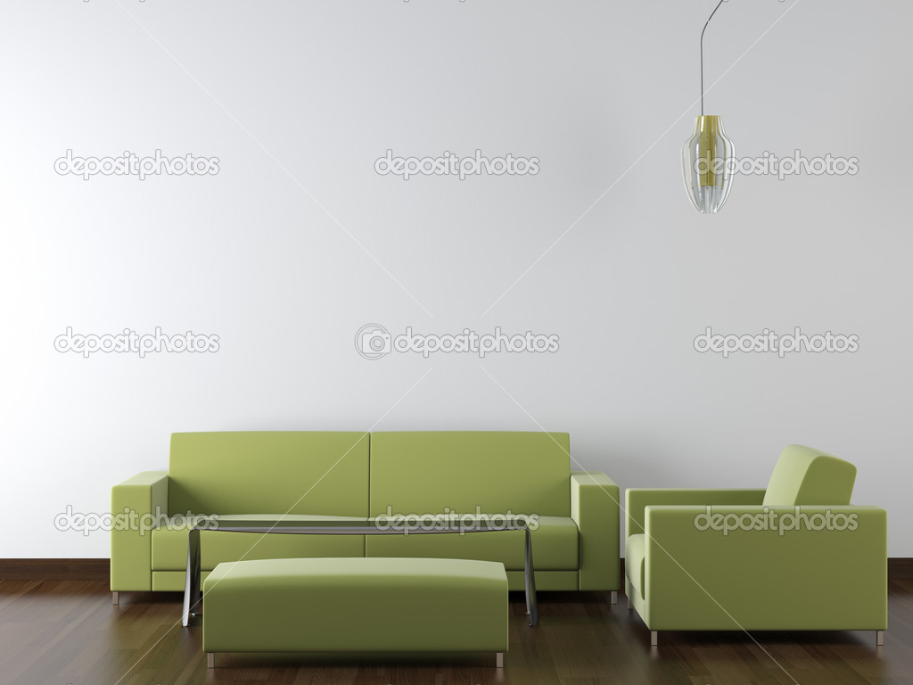 design int rieur moderne meubles verts sur mur blanc photographie arquiplay77 8213701. Black Bedroom Furniture Sets. Home Design Ideas