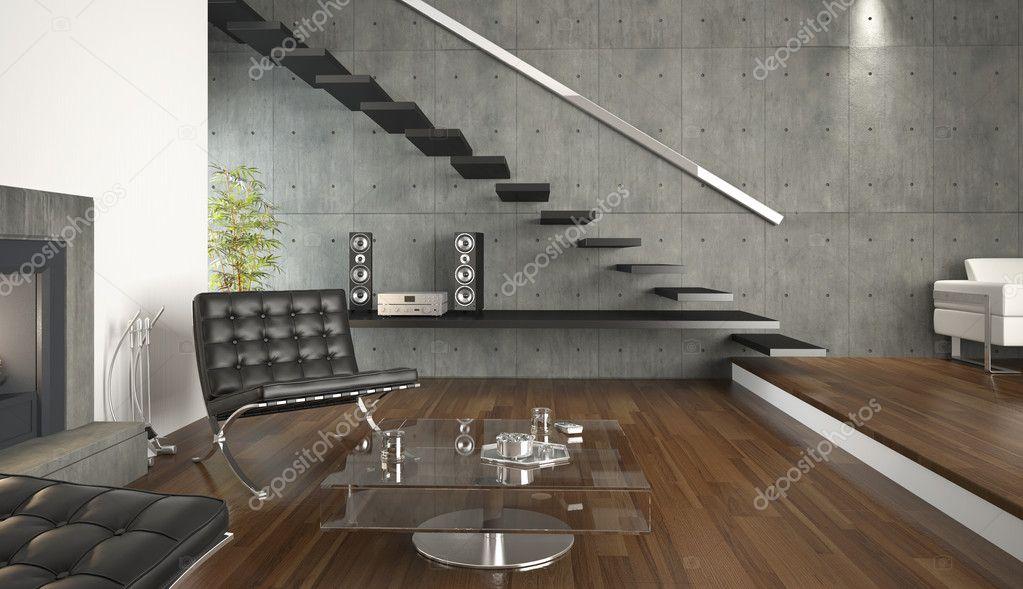 Baixar Fotos De Sala De Estar ~ Design de interiores de sala de estar moderna — Fotografias de Stock