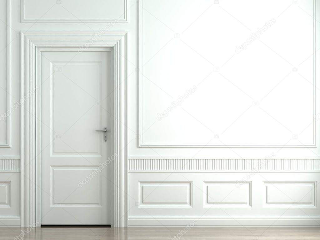 mur classique blanc avec porte photographie arquiplay77 8215611. Black Bedroom Furniture Sets. Home Design Ideas