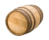 Old Barrel isolated with a clipping path — Stock Photo