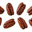 Stock Photo: Caramelized Pecans isolated on white