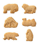 Animal Crackers isolated with a clipping path — Stock Photo