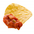 Chip and Salsisolated with clipping path — Stock Photo #8196354