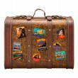 Old Suitcase Travel Stickers isolated with clipping path — Stock Photo #8197513