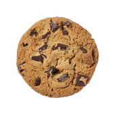 Chocolate Chip Cookie isolated with a clipping path — Stock Photo