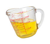 Cooking Oil in Measuring Cup with a clipping path — Stock Photo