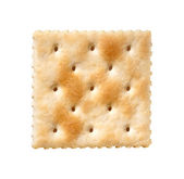 Saltine Cracker isolated on white — Stock Photo