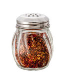 Crushed Red Pepper Shaker isolated with a clipping path — Stock Photo