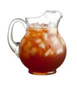 Ice Tea Pitcher isolated on white — Stock Photo