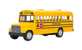 Toy School Bus isolated on white — Stock Photo