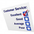 Customer Service with Excellent Ticked — Stock Photo