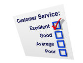 Customer Service with Excellent Ticked — Stockfoto