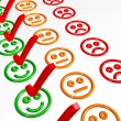 Stock Photo: Feedback Form with Smilies - Excellent
