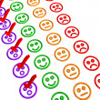 Feedback Form with Smilies - Awesome — Stock Photo