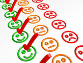 Feedback Form with Smilies - Excellent — Stock Photo