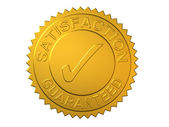 Satisfaction Guaranteed Gold Seal — Stock Photo