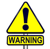 Uyarı işareti — Stok fotoğraf