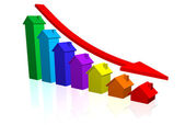 House Prices Going Down — Stock Photo