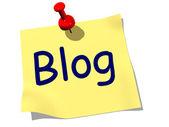 Nota de blog — Foto de Stock