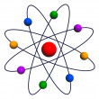 Stock Photo: Atom and Electrons