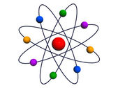 Atom and Electrons — Stock Photo
