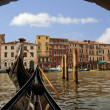 Gondolier on the Grand Canal, Venice - Stock Photo