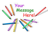 Crayons with Room for Message — Stock Photo