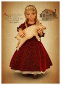 Alice with Piglet — Stock Photo