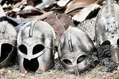 Helmets and armors — Stock Photo