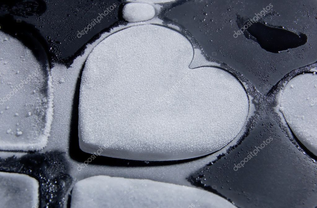Ice heart with fine frost over it! — Stock Photo #8866645