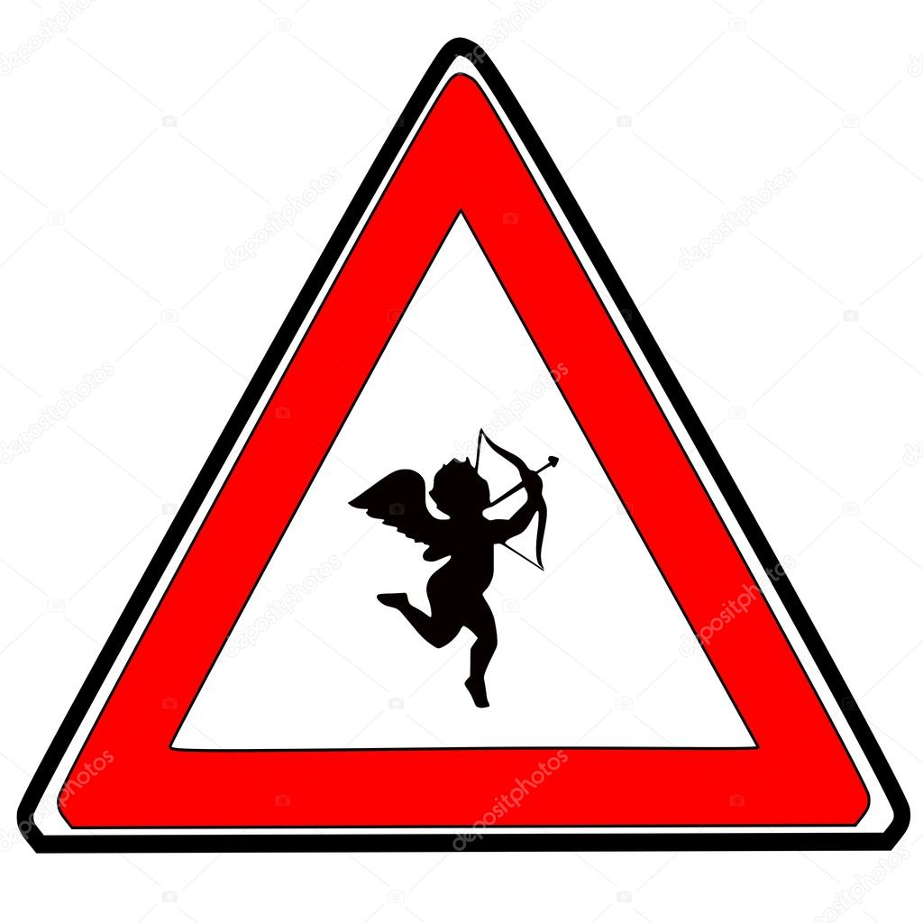 Attention, Cupid on the loose. — Stock Vector #8921124