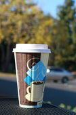 Plastic coffe cup — Stock Photo