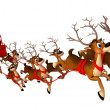Santwith sleigh — Stock Photo #8202729