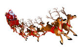Santa with sleigh — Stock Photo