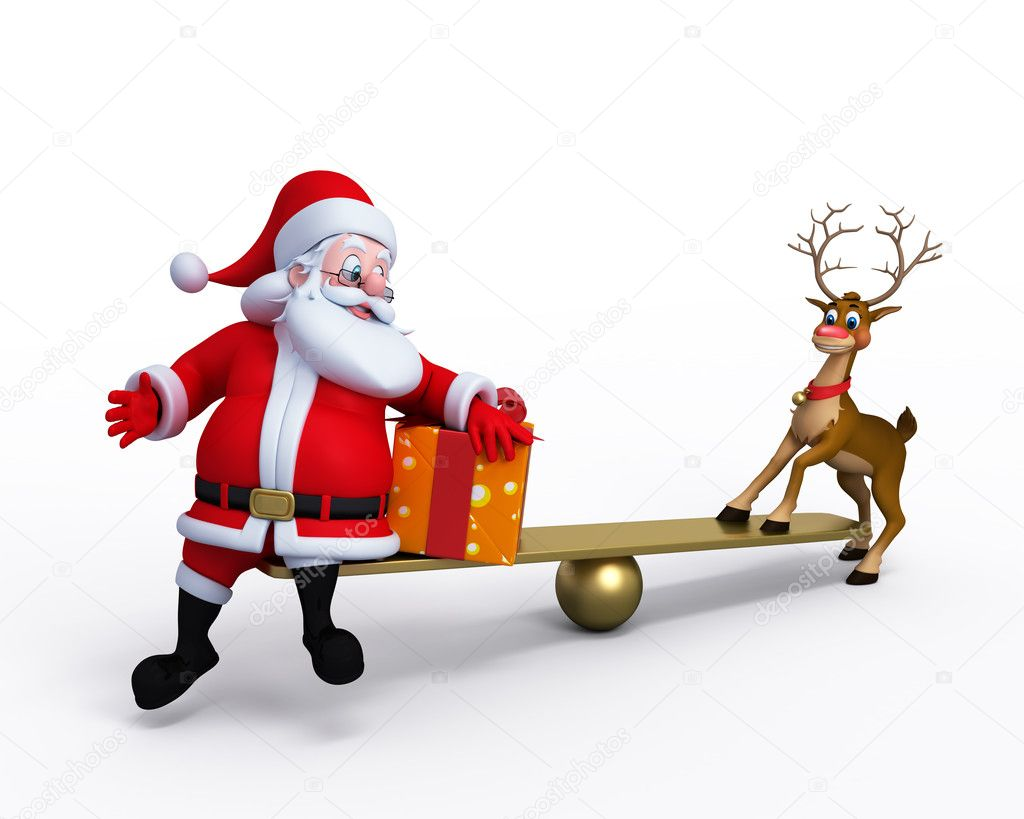 3d art illustration of happy santa claus — Stock Photo #8202464