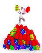 Yumurtalı paskalya tavşanı zevk — Stok fotoğraf