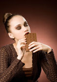 Forever chocolate addicted — Stock Photo