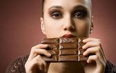 Aldrig nog choklad. — Stockfoto