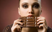Nie genug schokolade. — Stockfoto