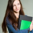 Cute young student girl. — Stock Photo #10670644