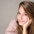 Gorgeous smiling young brunette girl. — Stock Photo #8184675