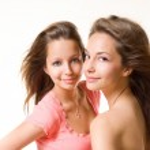 dvě bruneta krás — Stock fotografie