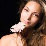 schoonheid shot van een prachtige jonge brunette vrouw — Stockfoto