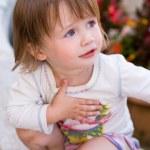 Charming baby toddler girl. — Stock Photo