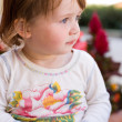 Charming baby toddler girl having fun. — Stock Photo