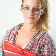 Portrait of a gorgeous young student girl. — Stock Photo #8188674
