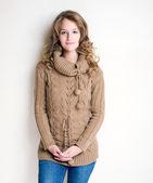 Kış moda kız. — Stok fotoğraf