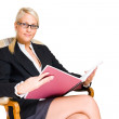 Rich young busness woman. — Stock Photo
