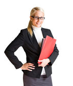 Happy young business woman. — Stock Photo
